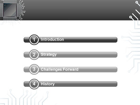 Microchip In Gray Colors PowerPoint Template, Slide 3, 02782, Technology and Science — PoweredTemplate.com
