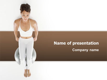 Fitness With Gymnastic Ball PowerPoint Template, 02783, People — PoweredTemplate.com