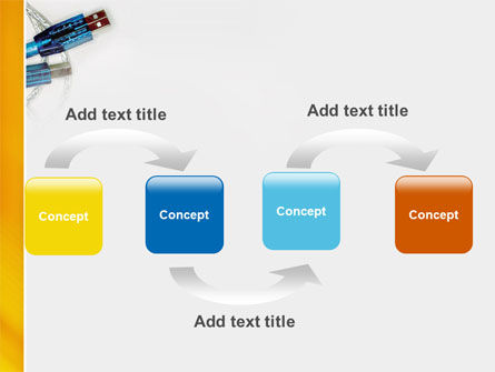 USB Cable PowerPoint Template, Slide 4, 02784, Technology and Science — PoweredTemplate.com