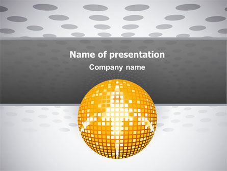 Art & Entertainment: Disco Ball PowerPoint Template #02785