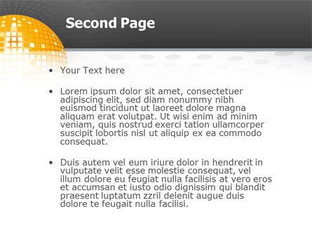 Disco Ball PowerPoint Template, Slide 2, 02785, Art & Entertainment — PoweredTemplate.com