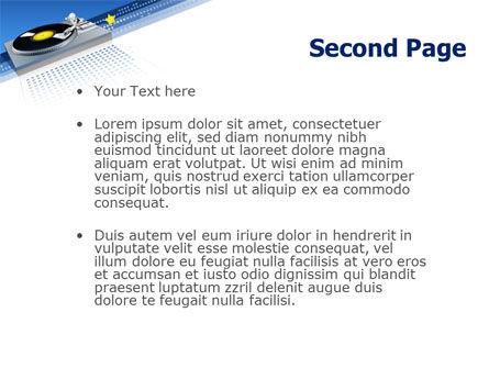 Party DeeJay PowerPoint Template, Slide 2, 02786, Art & Entertainment — PoweredTemplate.com