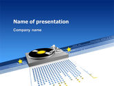 Art & Entertainment: Party Deejay PowerPoint Template #02786