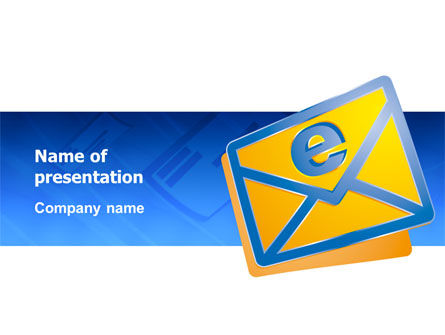 Telecommunication: E-mail PowerPoint Template #02793