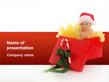 Holiday/Special Occasion: Christmas Gift PowerPoint Template #02795