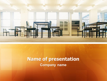 Office Canteen PowerPoint Template, 02798, Construction — PoweredTemplate.com