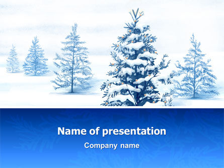 Winter Snow PowerPoint Template, 02800, Nature & Environment — PoweredTemplate.com