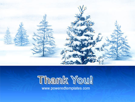 Winter Snow PowerPoint Template Slide 20