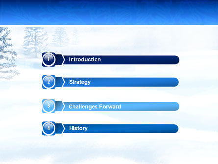Winter Snow PowerPoint Template, Slide 3, 02800, Nature & Environment — PoweredTemplate.com