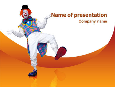 Clown PowerPoint Template, 02801, Holiday/Special Occasion — PoweredTemplate.com