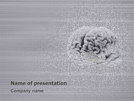 Technology and Science: Mental Work PowerPoint Template #02802