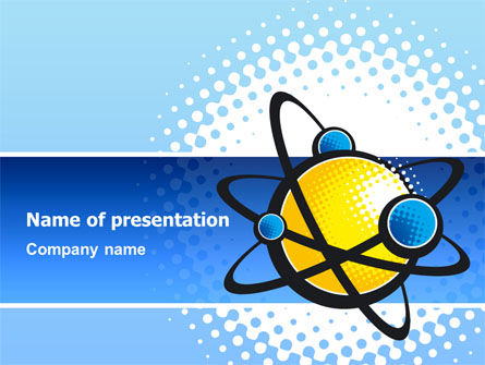 Education & Training: Atom PowerPoint Template #02803