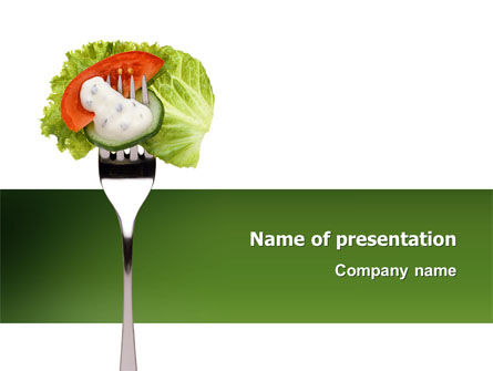Food & Beverage: Salat PowerPoint Vorlage #02807