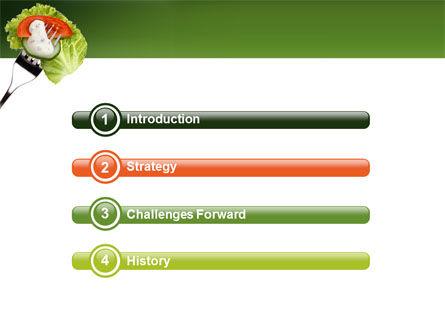 Salad PowerPoint Template, Slide 3, 02807, Food & Beverage — PoweredTemplate.com