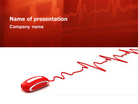 Computer Pulse PowerPoint Template, 02809, Technology and Science — PoweredTemplate.com