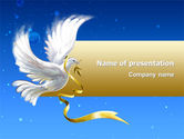 Religious/Spiritual: Dove of Peace PowerPoint Template #02810