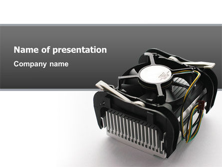 Technology and Science: Processor Cooler PowerPoint Template #02811