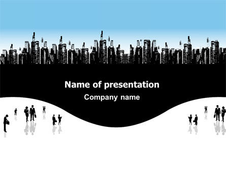 City PowerPoint Template, 02814, Business — PoweredTemplate.com