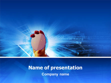 Semiconductor Matrix PowerPoint Template, 02815, Technology and Science — PoweredTemplate.com
