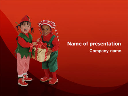 Christmas Kids PowerPoint Template, 02816, Education & Training — PoweredTemplate.com