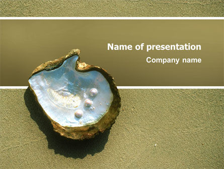 Pearls and Shell PowerPoint Template