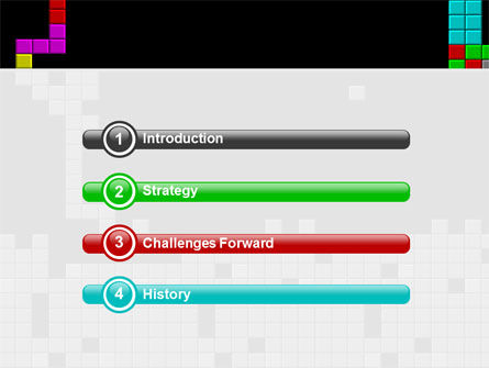 Tetris Free PowerPoint Template, Slide 3, 02818, Technology and Science — PoweredTemplate.com