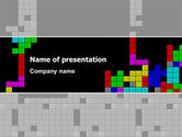 Technology and Science: Tetris Free PowerPoint Template #02818