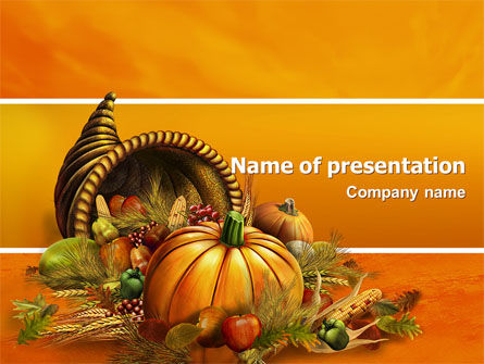 Thanksgiving Day Free PowerPoint Template, 02819, Holiday/Special Occasion — PoweredTemplate.com