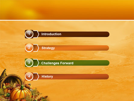 Thanksgiving Day Free Powerpoint Template, Backgrounds | 02819