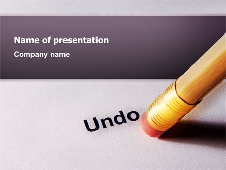 Undo PowerPoint Template, 02820, Business Concepts — PoweredTemplate.com