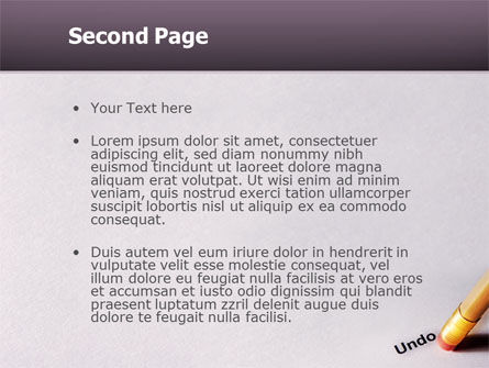 Undo PowerPoint Template Slide 2
