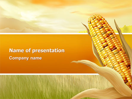 Corn Thanksgiving Free PowerPoint Template, 02821, Agriculture — PoweredTemplate.com