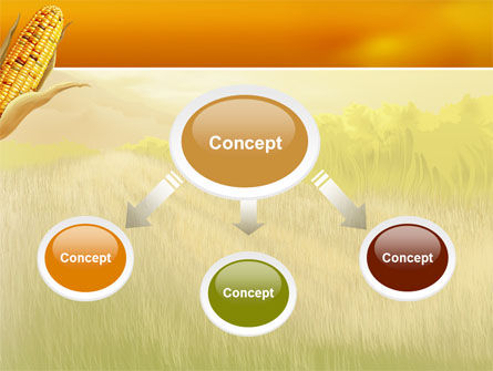 Corn Thanksgiving Free PowerPoint Template, Slide 4, 02821, Agriculture — PoweredTemplate.com