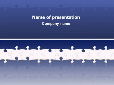Business: Modelo do PowerPoint - puzzle violeta #02822