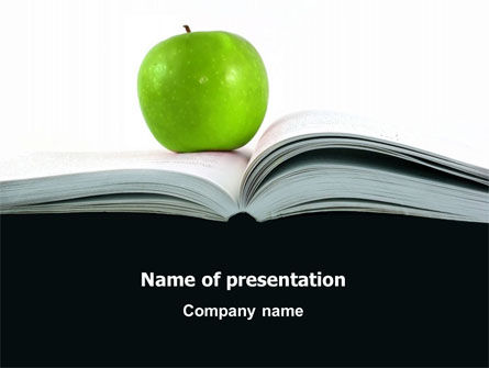 Education & Training: Book And Apple PowerPoint Template #02824