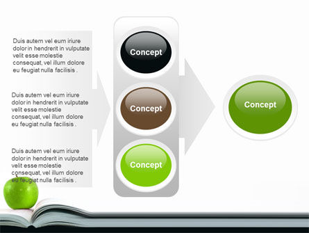 Book And Apple PowerPoint Template Slide 11