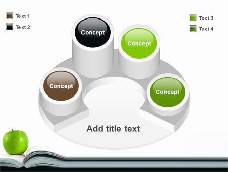 Book And Apple PowerPoint Template Slide 12