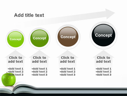 Book And Apple PowerPoint Template Slide 13