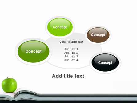 Book And Apple PowerPoint Template Slide 16