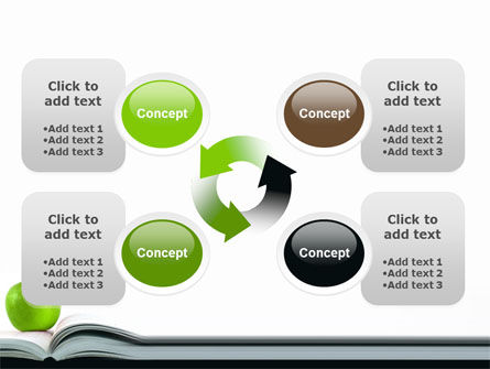 Book And Apple PowerPoint Template Slide 9