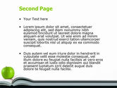 Book And Apple PowerPoint Template#2