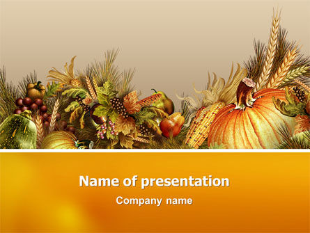Agriculture: Autumn Harvest PowerPoint Template #02826