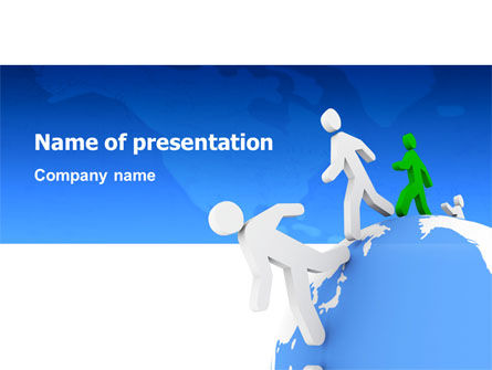 3D: World Ties PowerPoint Template #02827