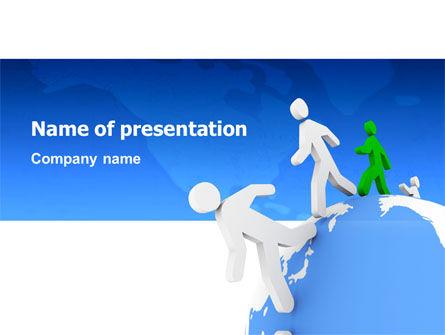 World Ties PowerPoint Template, 02827, 3D — PoweredTemplate.com