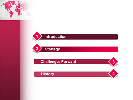 Crimson World PowerPoint Template, Slide 3, 02828, Global — PoweredTemplate.com