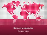 Global: Plantilla de PowerPoint - mundo carmesí #02828