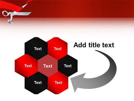 Cutting Red Tape PowerPoint Template Slide 11