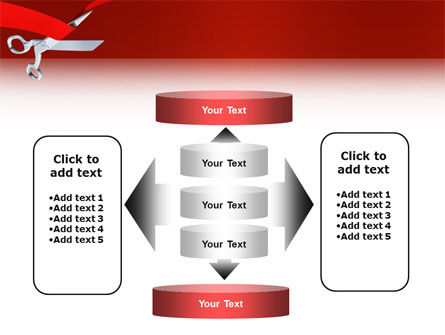 Cutting Red Tape PowerPoint Template Slide 13