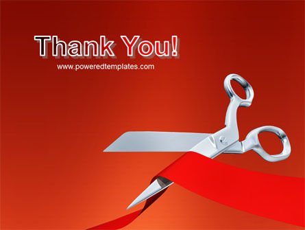 Cutting Red Tape PowerPoint Template Slide 20