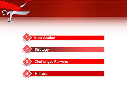Cutting Red Tape PowerPoint Template, Slide 3, 02829, Holiday/Special Occasion — PoweredTemplate.com